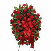 Red Rememberence Sympathy Standing Spray