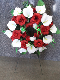 Red Remembrance Silk Wreath