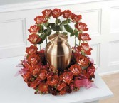 Red Rock Florist Circle of Love Sympathy Flower Arrangement, urn not included