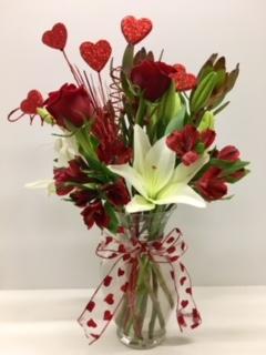 Red Romance Bouquet in Ruidoso, NM | Ruidoso Flower Shop