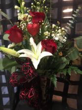 Red Romance Bouquet Fresh Valentine