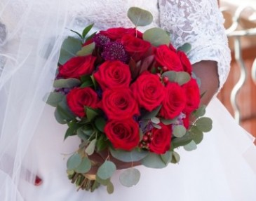 Red Romance  Bridal Bouquet
