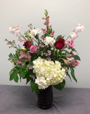 Red Romance Fresh Arrangement