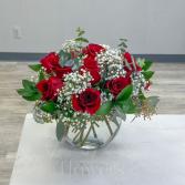 Red Romance Vase Arrangement