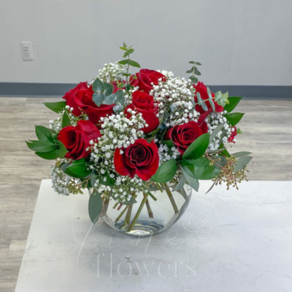 Red Romance Vase Arrangement