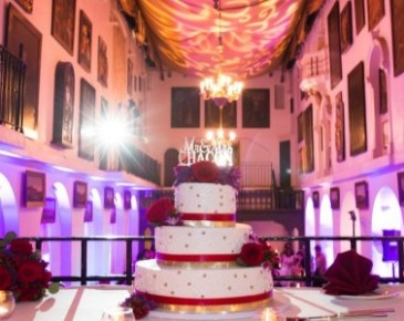 Red Romance  Wedding Cake Flowers