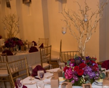 Red Romance  Wedding centerpieces