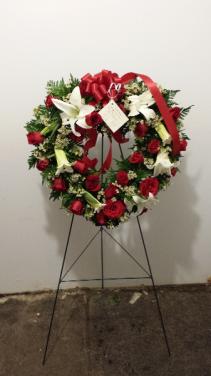 Heart wreath Easel Spray