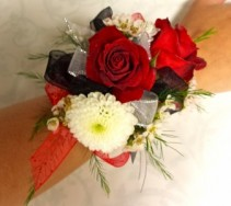 Red Rose and Mixed flower Corsage Wrist Corsage