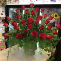 Red  rose arrangement  Roses