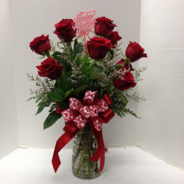 Red Rose Arrangement Vase Arrangement