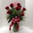 Red Rose Arrangement Vase Arrangement