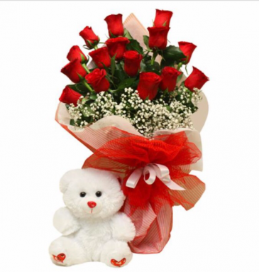 Classic Red Rose Bouquet Same Day Flowers