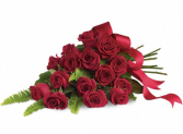 Red Rose Bouquet Spray Sympathy