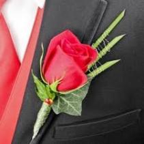 Red Rose Boutineer