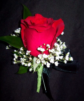 Red rose Boutoneire  Boutoneire