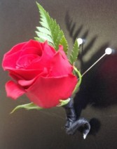 Deluxe Rose Boutonniere