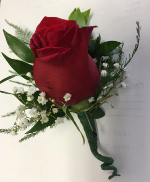 Red rose boutonniere boutonniere in Newmarket, ON | THE ROSE PROS