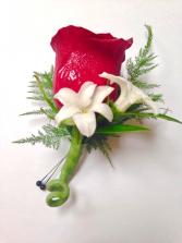 Red Rose Boutonnières