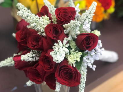 Red Rose Wedding Bouqet.Lily S Flowers And Fruity Florets