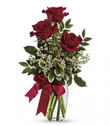 Red rose bud vase  Vase