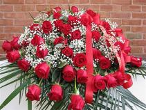 Red Rose Casket Cover casket cover