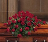 RED ROSE CASKET PIECE