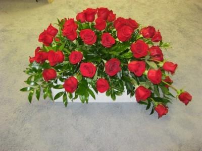 Red Rose Casket Piece Casket Piece