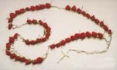Red Rose Casket Rosary Standing Spray