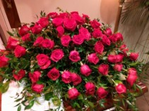 Red Rose Casket Spray Casket Flowers