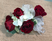 Red Rose Corsage Wristlet