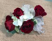 Red Rose Corsage Wristlet