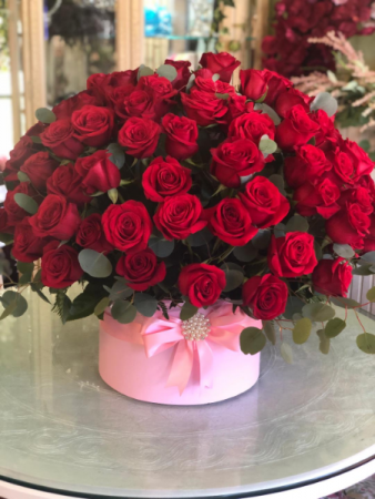 Red Rose Eclipse Hat Box