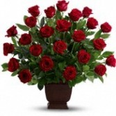 FA 14-Red rose funeral arrangement Also available in other colors