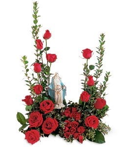 RED ROSE GRACE STATUE NOT INCLUDED