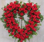 Red rose heart Eternal love
