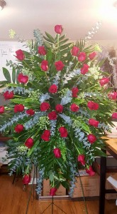 Red rose love Funeral