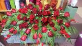 Red Rose Memories Casket Spray