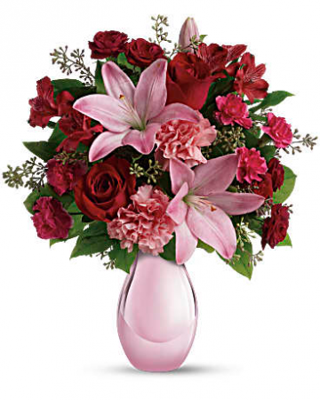 Red Rose & Pink Lily Mix