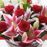 FRAGRANT ROSES AND LILY Bouquet 58.00  68.00  88.00