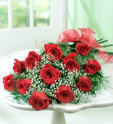 Red Rose Presentation Bouquet  Dozen Red Roses