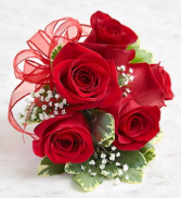 Red sweetheart rose corsage!