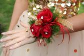 Red Rose Prom corsage corsage