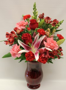 Red Rose Regency Vase Arrangement