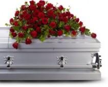 red rose reverence casket T225-3B