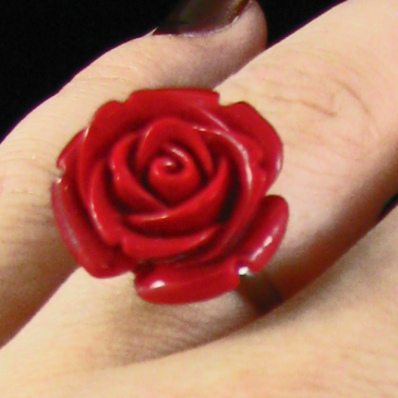 Red Rose Ring Jewelry