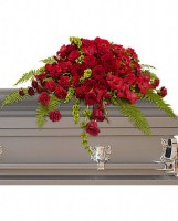 Red Rose Sanctuary Casket Spray Casket Spray