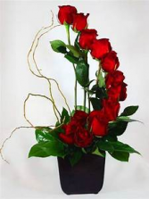 RED ROSE STAIRCASE FOR FAMILY HOME/OR/TO THE SERVICE