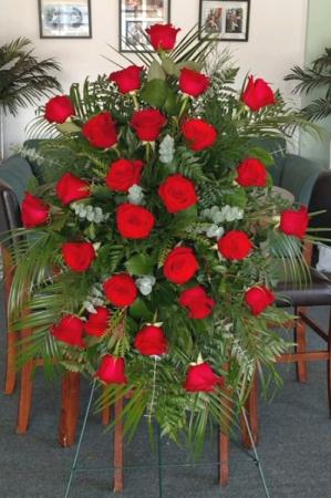 Red Rose Standing Spray
