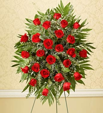 Red Rose Standing Spray
